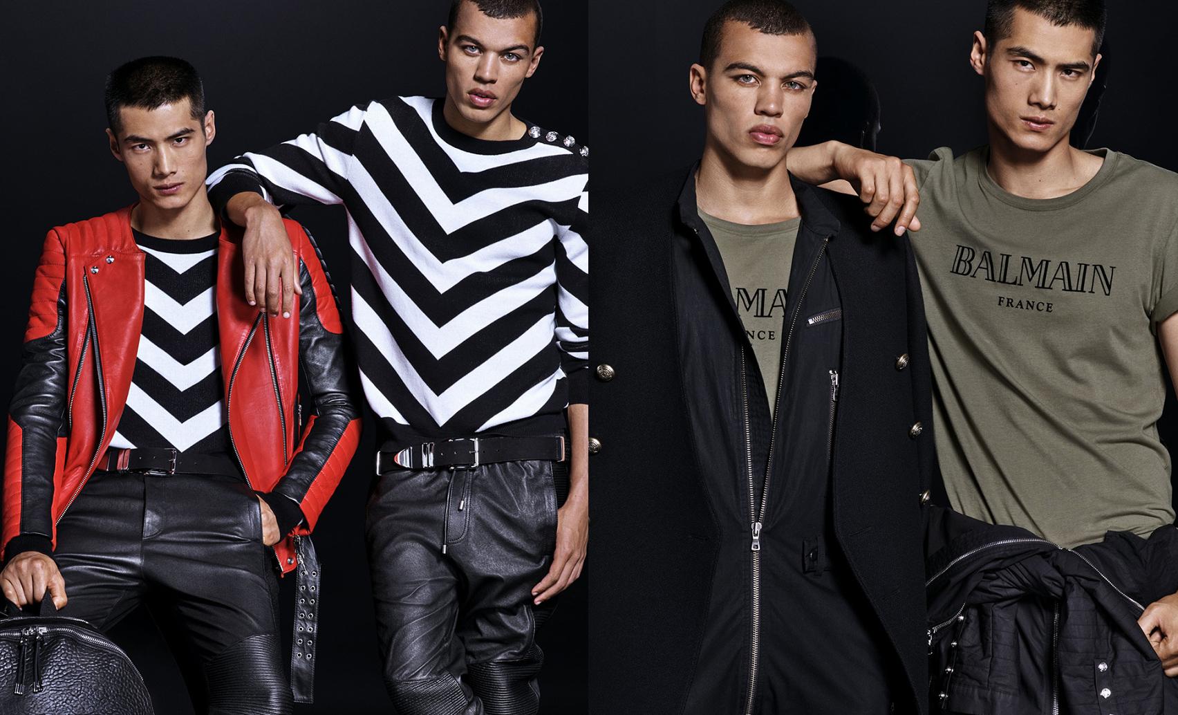 H&M x Balmain Full Menswear Lookbook