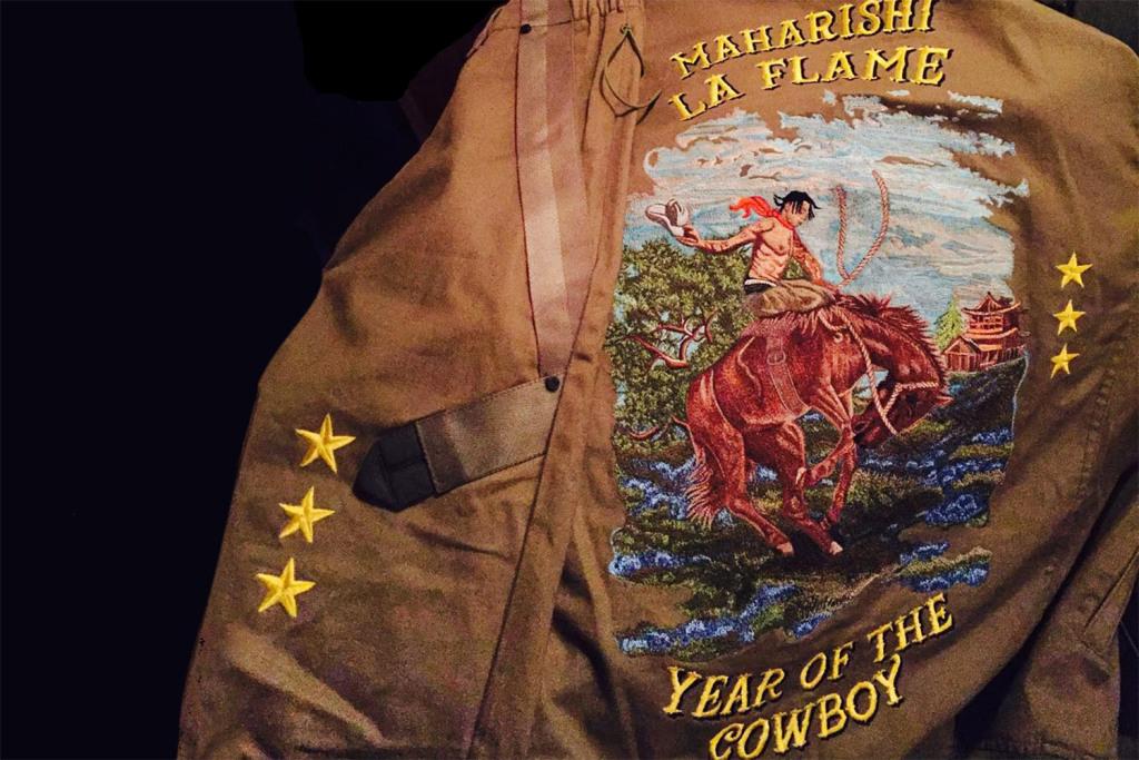 Maharishi Makes Custom Jacket for Travis Scott