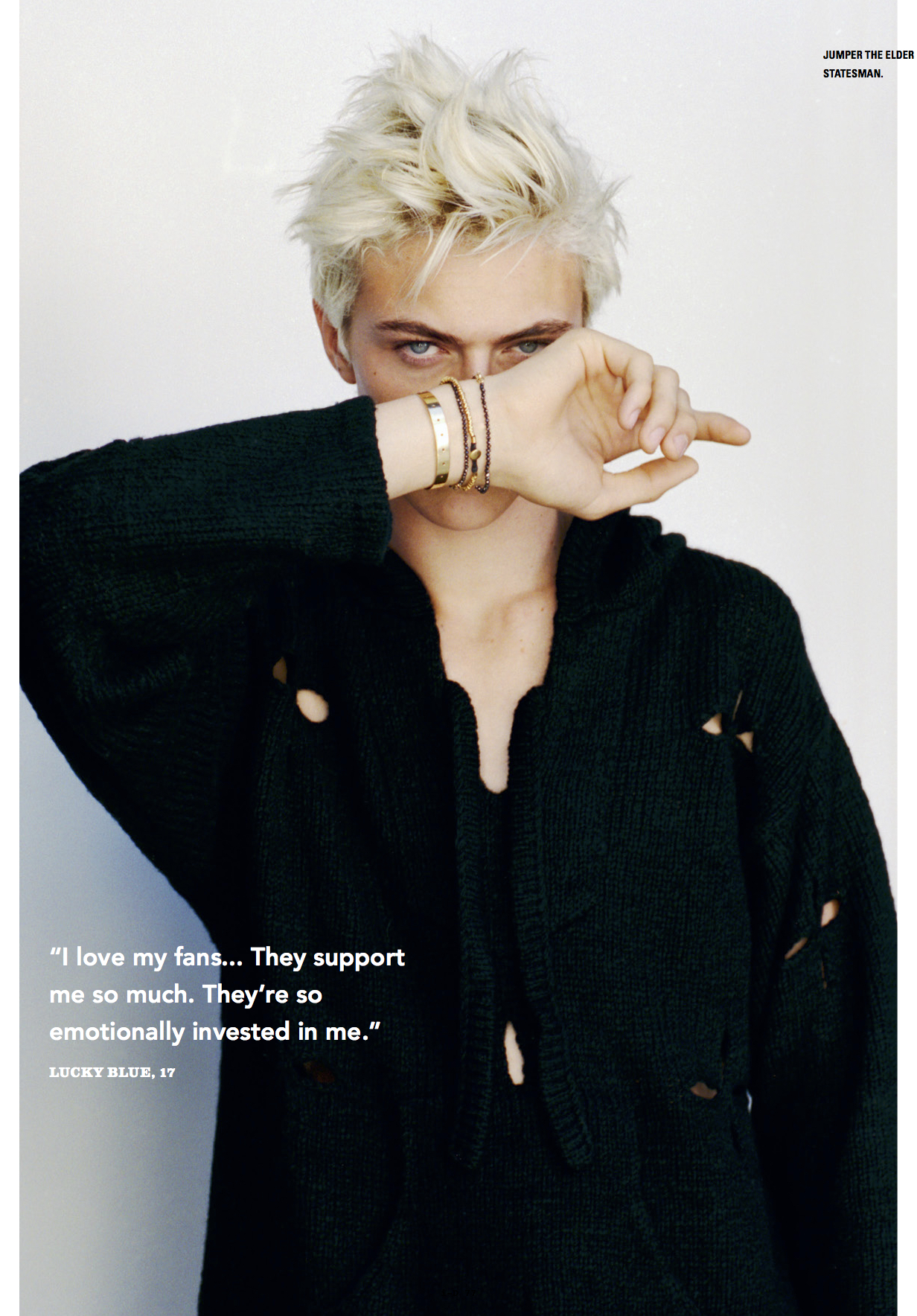 Lucky Blue Smith Features in i-D