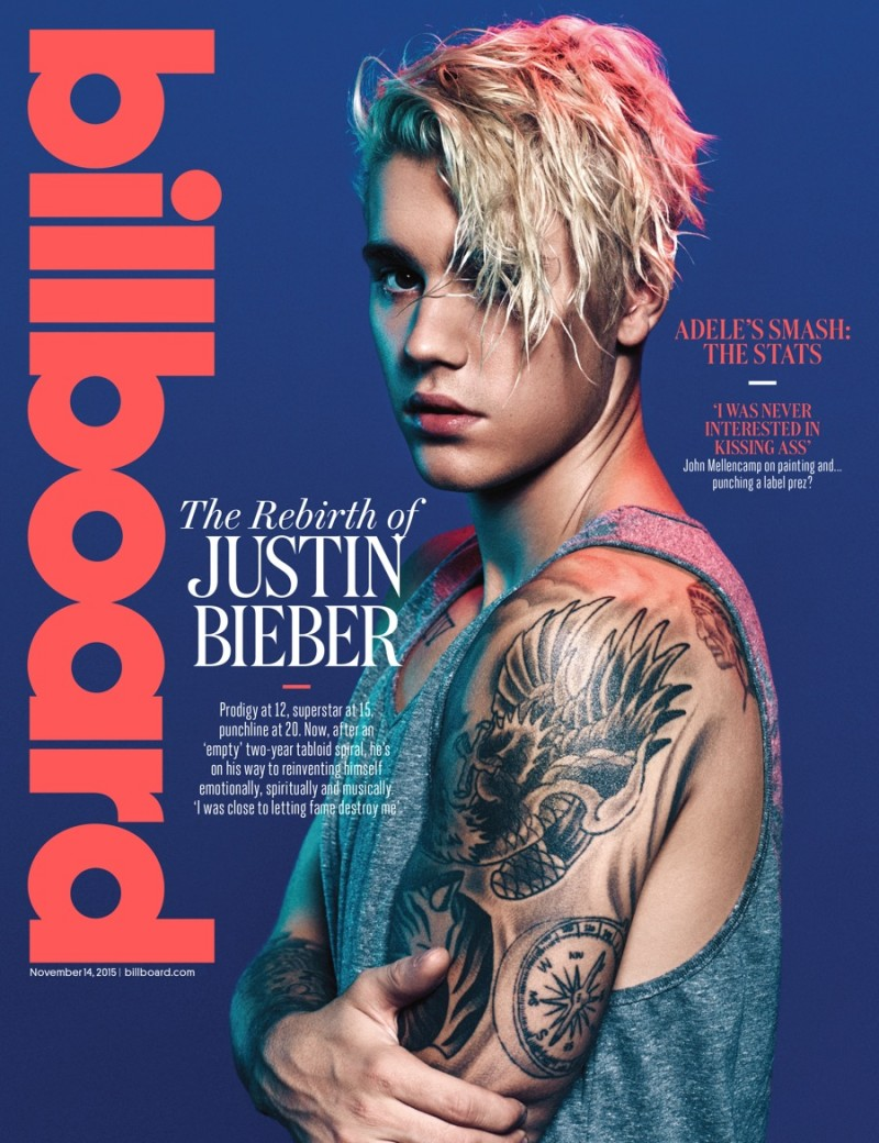 Justin Bieber poses for Billboard Magazine