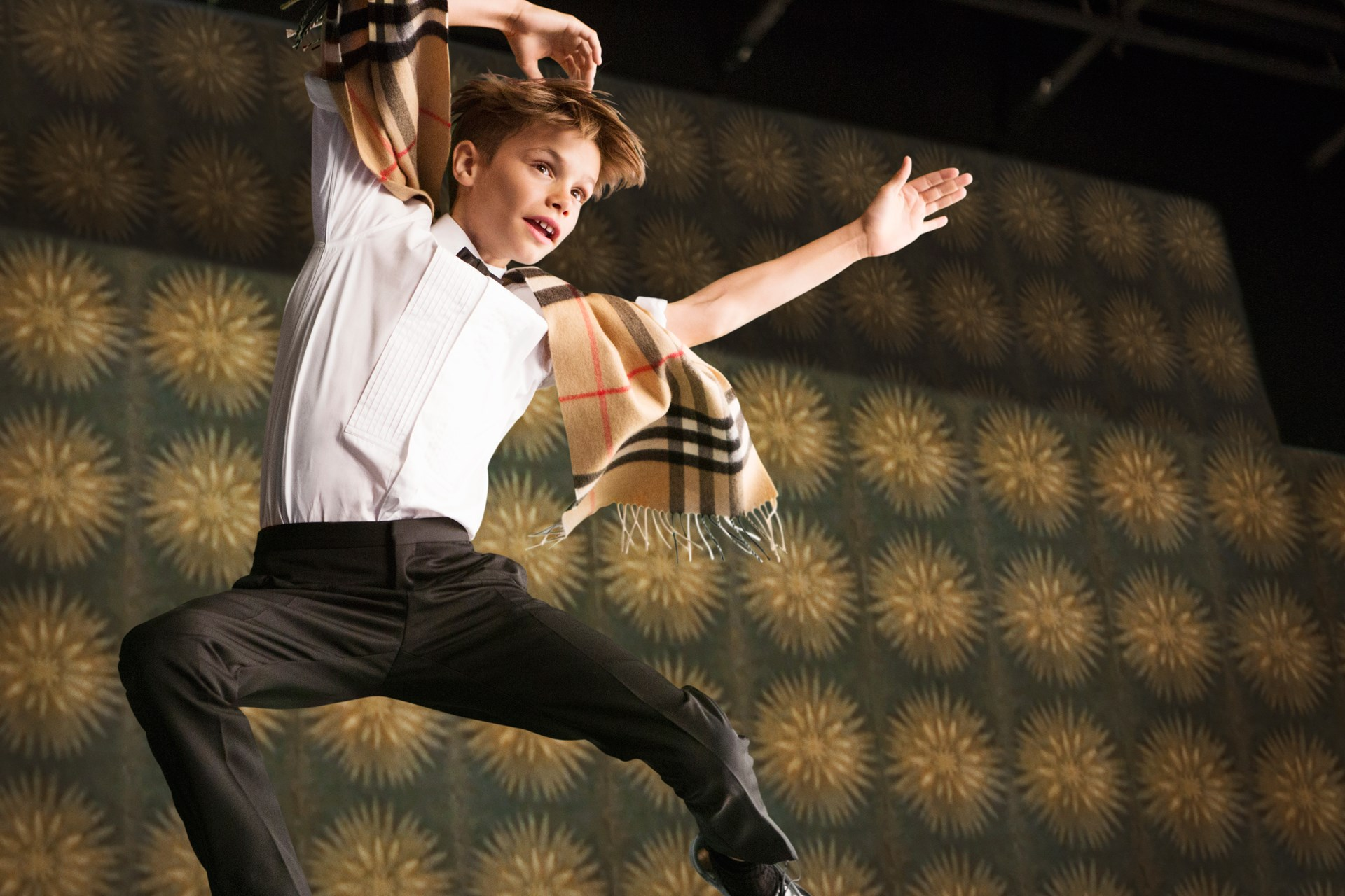 """Burberry """"Billy Elliot"""" Christmas 2015 Campaign Featuring Romeo Beckham"""