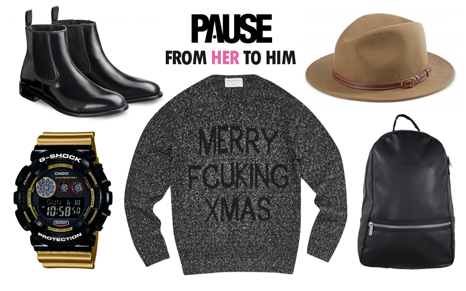 PAUSE Christmas: Gifts From Her To Him
