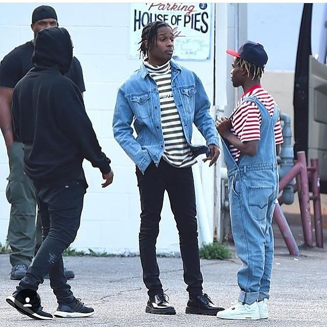 Get the look: A$ap Rocky & Ian Connor in stripes