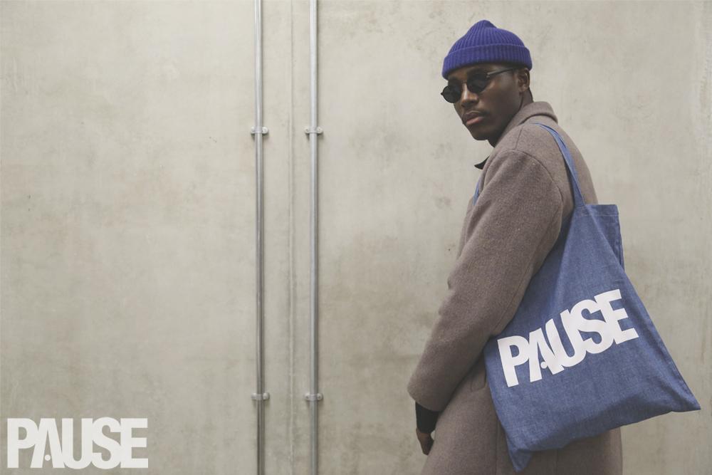 SHOP: PAUSE Tote Bag  (Black & Denim)