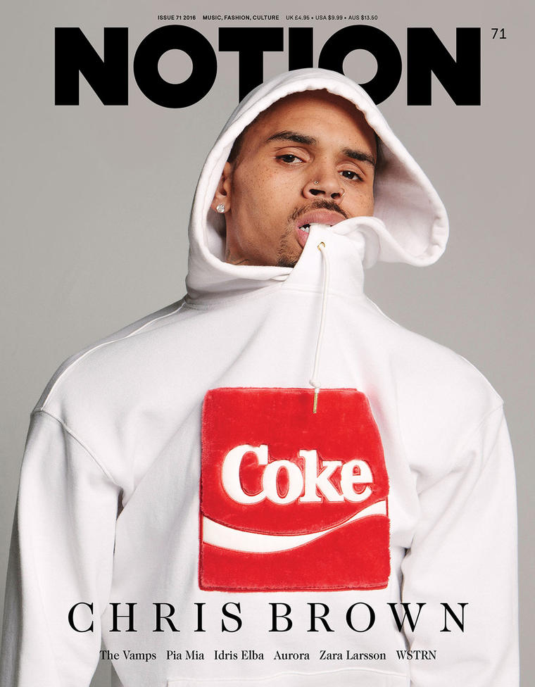 Spotted: Chris Brown Joyrich x Coke hoodie on Notion