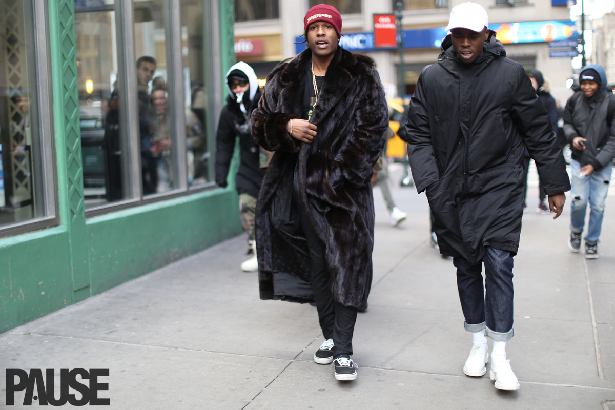 Street Style Special: A$AP Rocky in Fur Coat to Yeezy Season 3