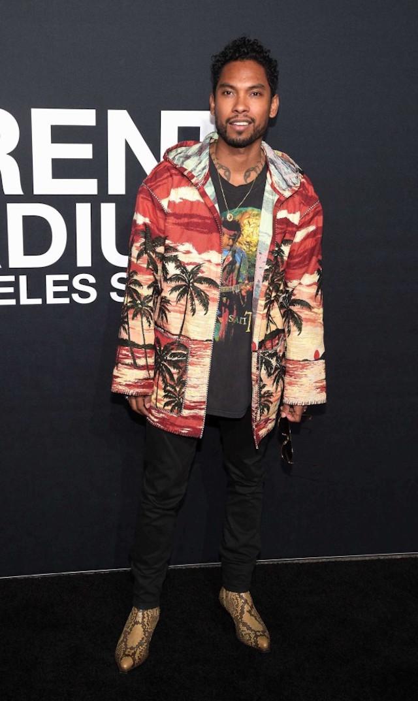 Spotted: Miguel At Saint Laurent LA Fashion Show In Saint Laurent