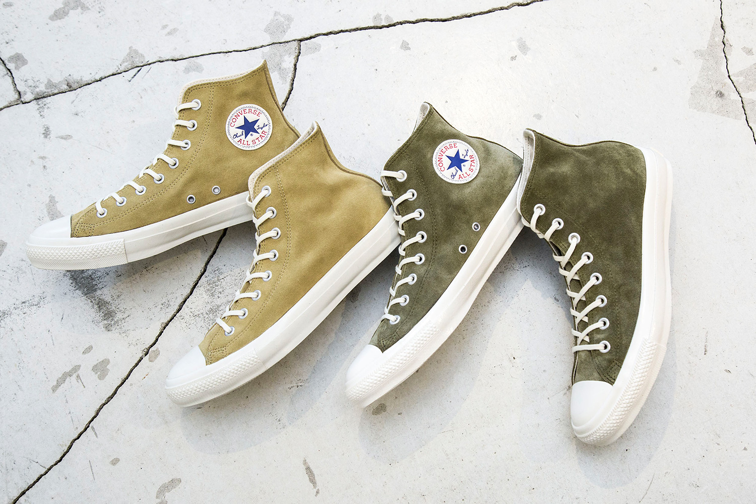 BEAUTY & YOUTH Bespoke Premium Suede Converse Chuck Taylors