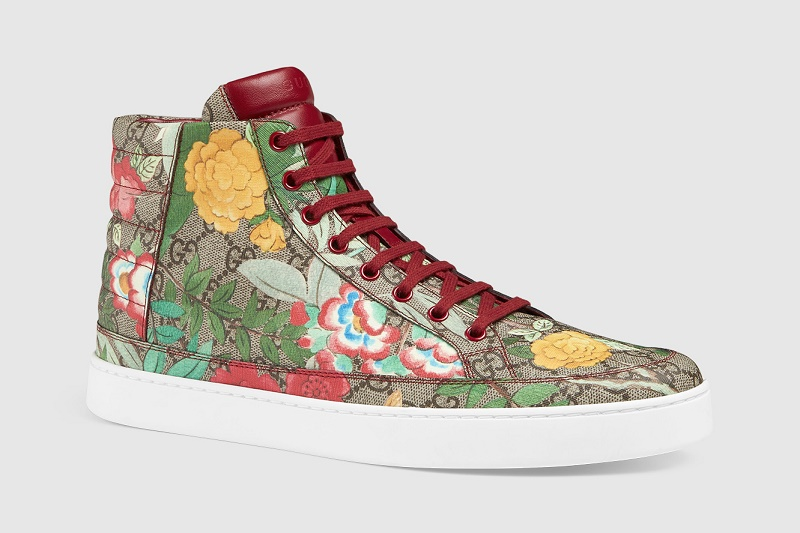 Gucci Spring 2016 Floral Print Sneakers