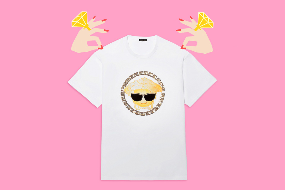 Versace Launches Emoji Tees and App for Valentine's Day