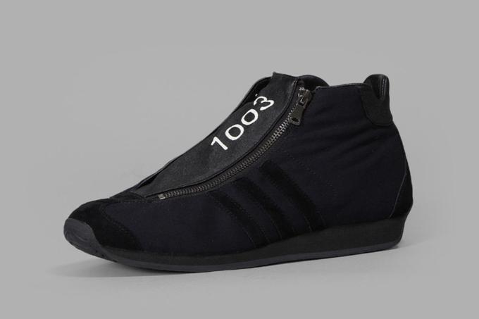 Yohji Yamamato Navy '1003' Tonal Zip-Entry Sneakers