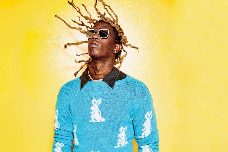 Young Thug Poses In Colourful Editorial for GQ