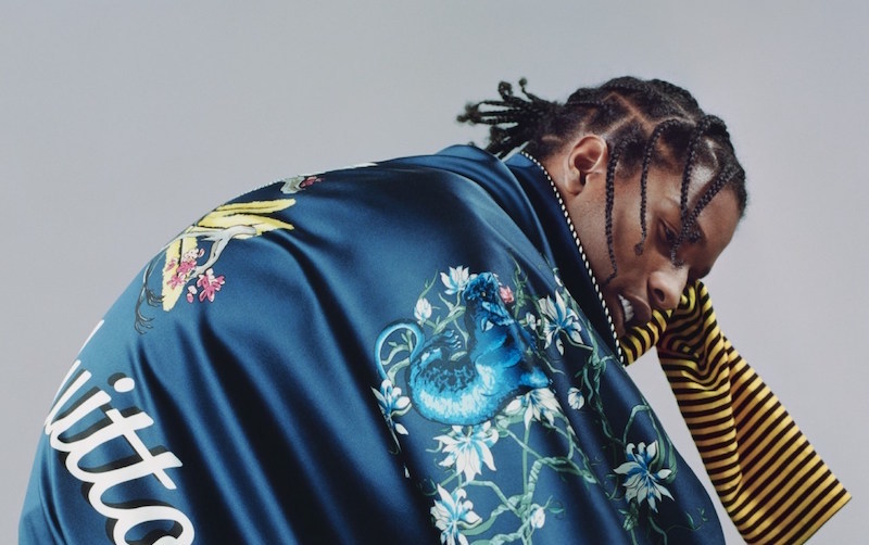 A$AP Rocky Sports Louis Vuitton And Prada For Vogue