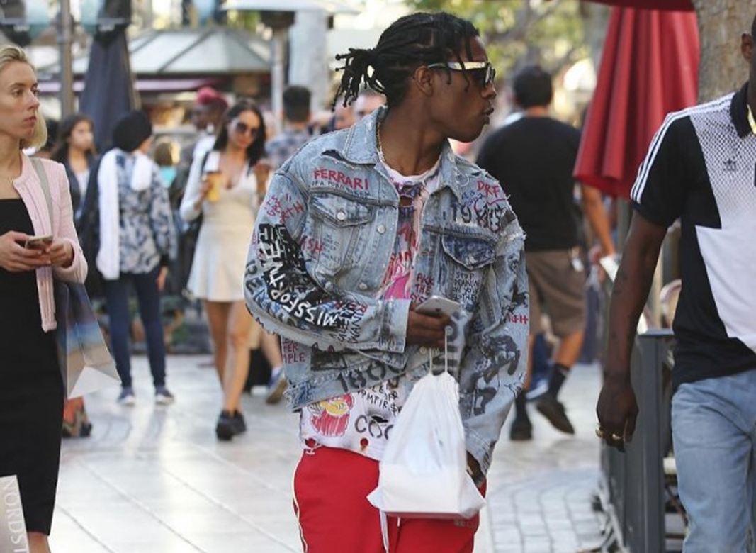 Get The Look: ASAP Rocky in Himumimdead Denim Jacket & Gosha Rubchinskiy