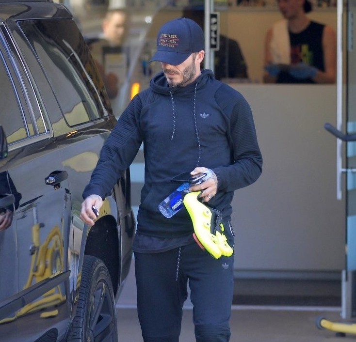 Spotted: David Beckham in Top-to-Toe Adidas