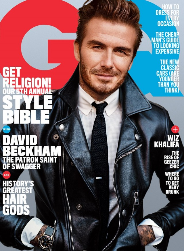 David Beckham Wears Tom Ford Leather Jacket for GQ