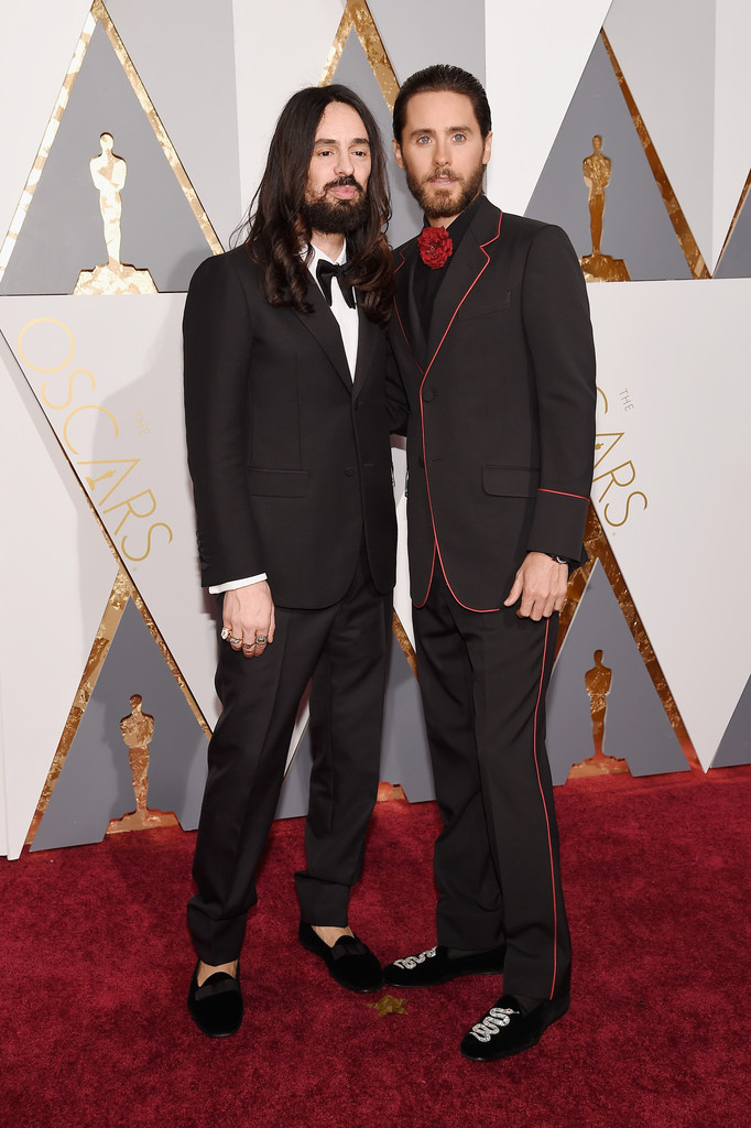 Jared Leto Attends Oscars With Gucci's Creative Director