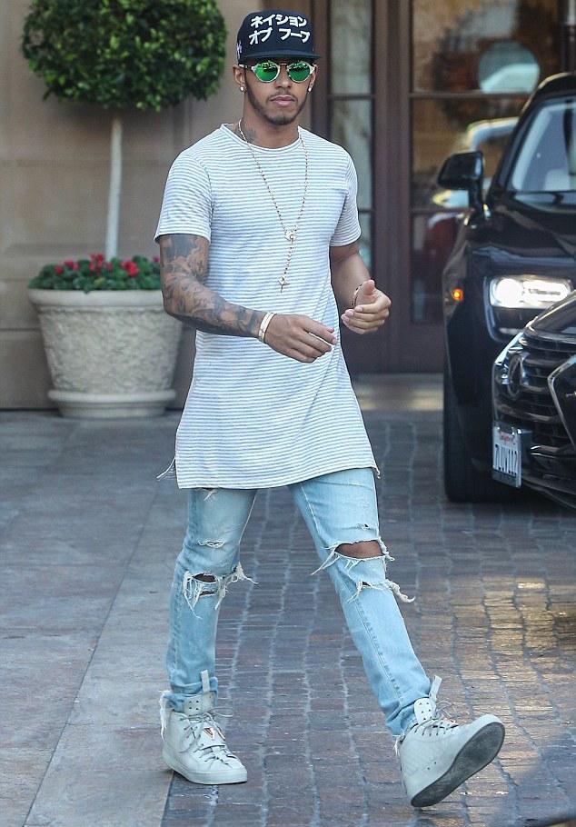 Lewis Hamilton Wearing Patrick Mohr x K1X MK7 Sneakers