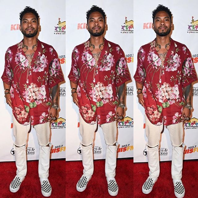Trend Alert: Miguel Sports Off Tropical Red Gucci + Saint Laurent