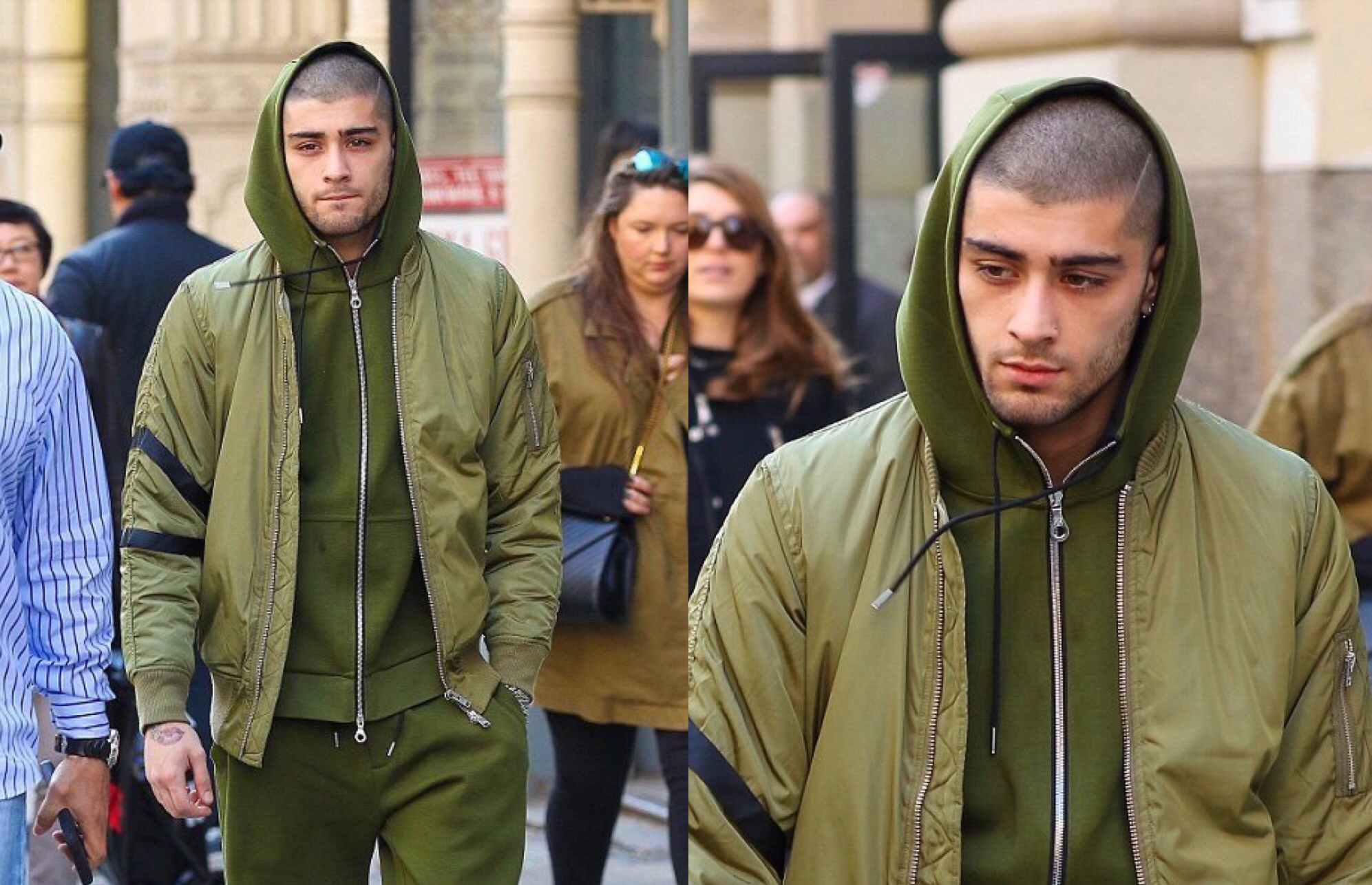 Spotted: Zayn Malik in All-Green-Everything