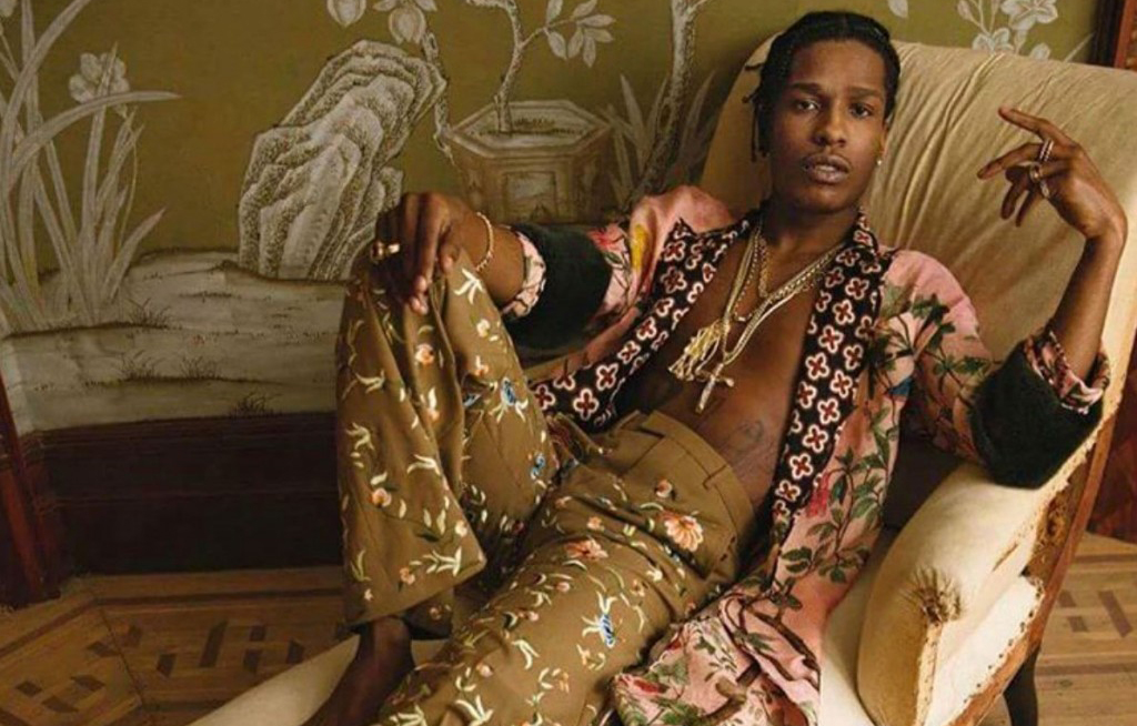ASAP Rocky relaxes in Gucci Spring/Summer 2016