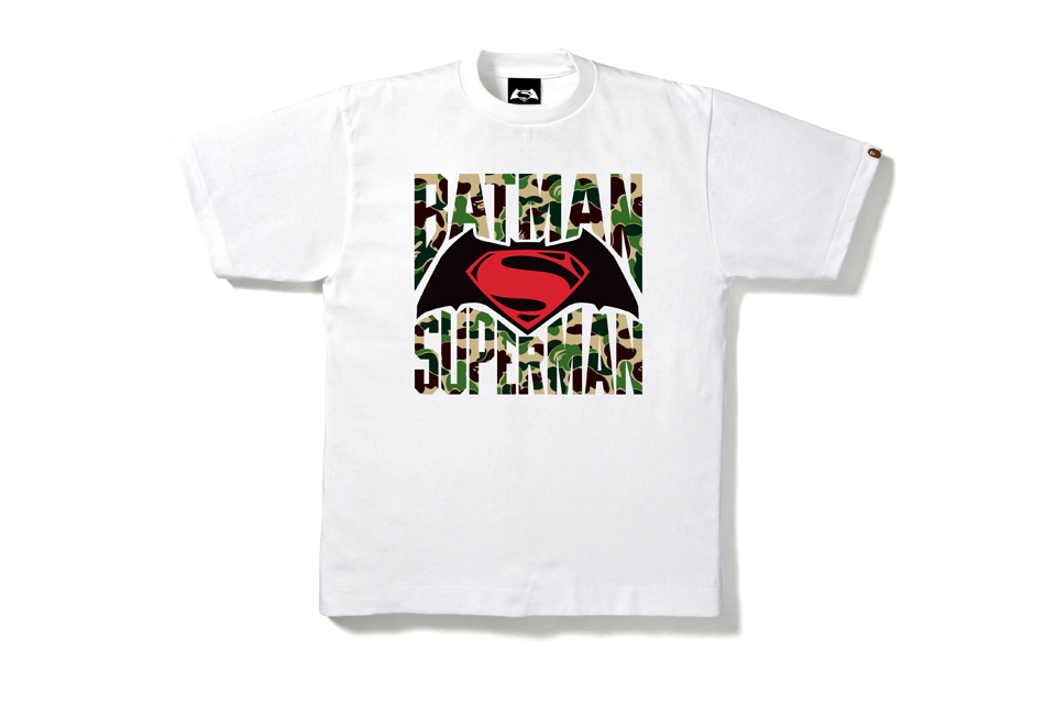 "BAPE Joins the ""Batman vs Superman"" hype with celebratory t-shirts"