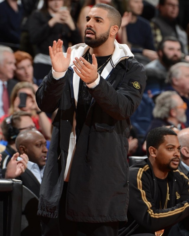Spotted: Drake in Stone Island at the NBA Games