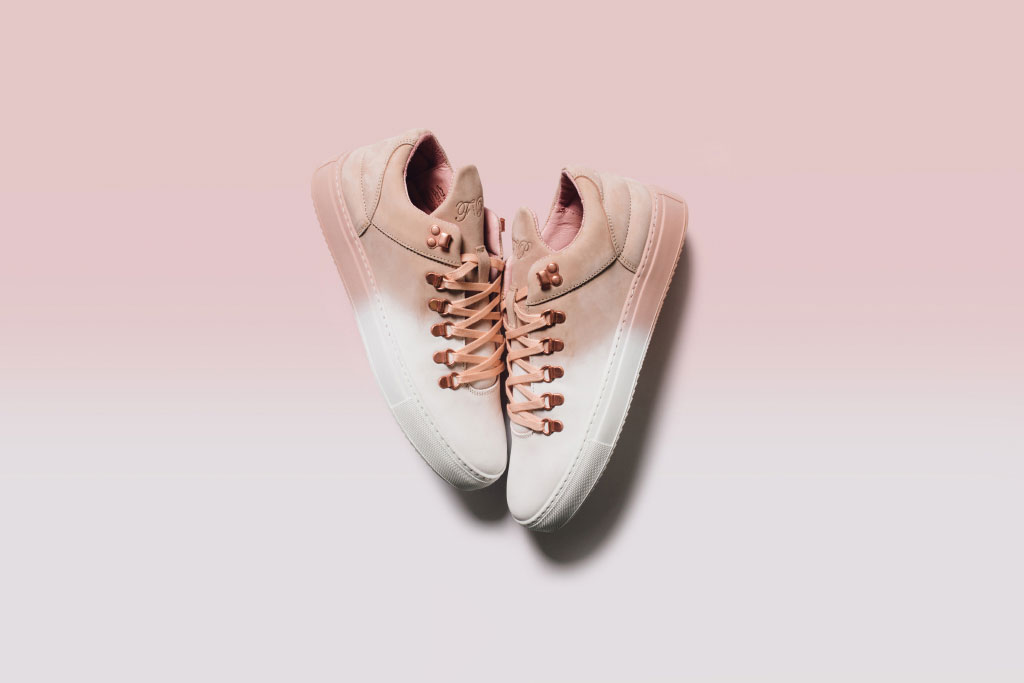 Filling Pieces White/Coral Colourway
