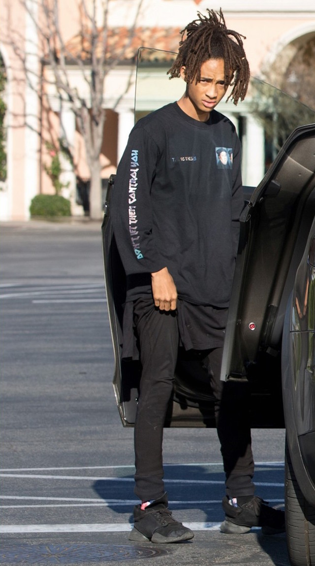 Jaden Smith Wearing Rick Owens x Adidas Sneakers