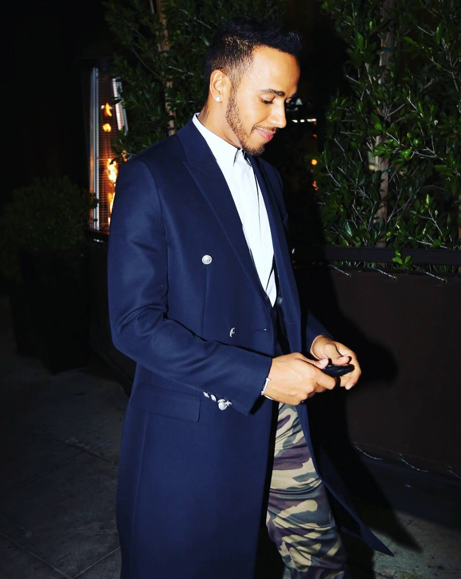 Spotted: Lewis Hamilton in Dior Spring/Summer 2016 Camo Pants