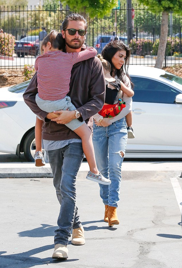 Spotted: Scott Disick in Saint Laurent & Common Projects
