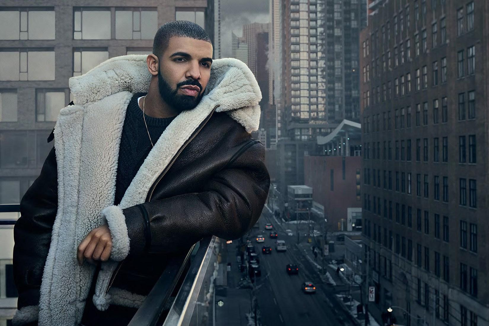 Spotted: Drake in Schott NYC B-3 Sheepskin Bomber Jacket