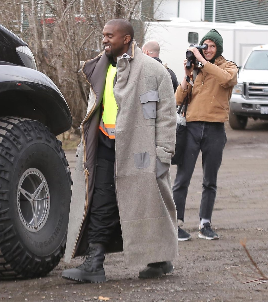 Spotted: Kanye West Films Video In Iceland In Yeezy 1050 Boots