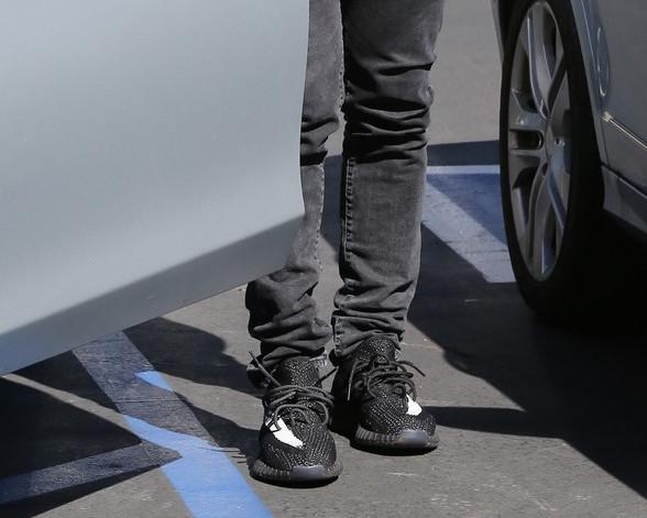 Spotted: Kanye West In Calabasas Wearing Yeezy Season 3 Sneakers