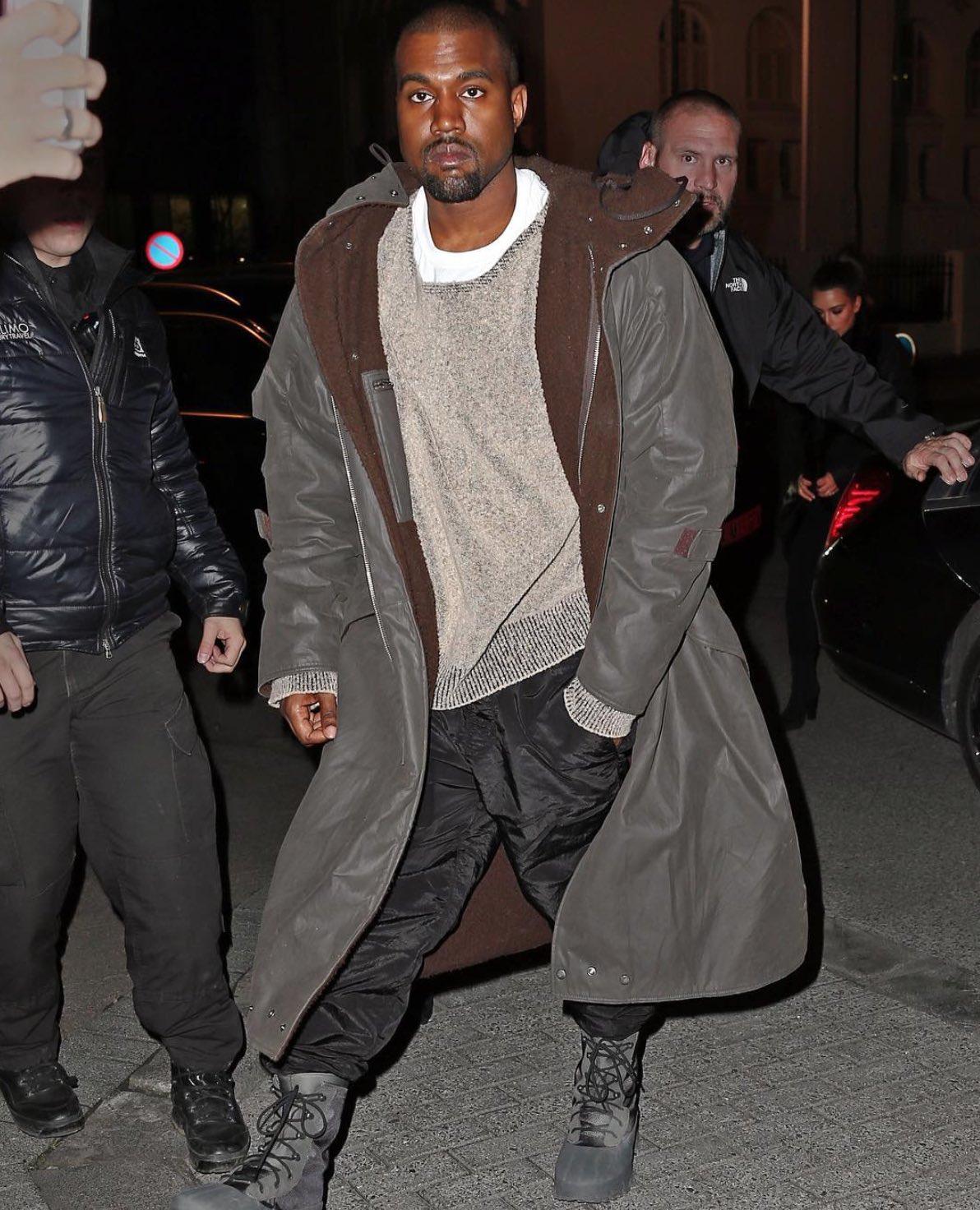 Spotted: Kanye West Yeezy Season 1 Sweatshirt And Yeezy 1050 Boots