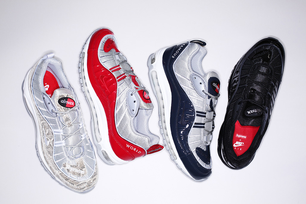 Supreme x Nike Air Max 98 Full Collection Launches This Weekend