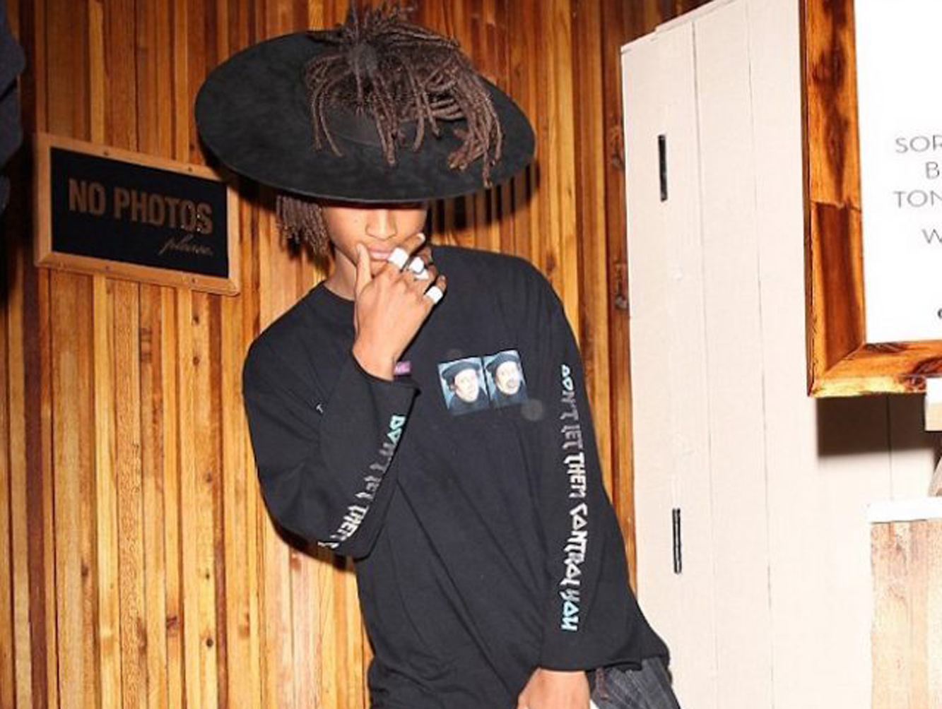 Spotted: Jaden Smith at Gigi Hadid's 21st Birthday In MSFTS T-Shirt