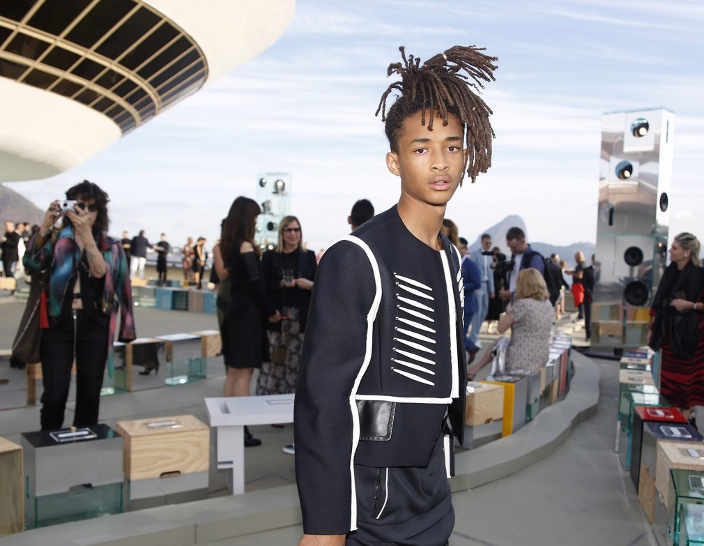 Jaden Smith Opts for Gold Cartier Rings As Hair Ties At Louis Vuitton 2017 Show