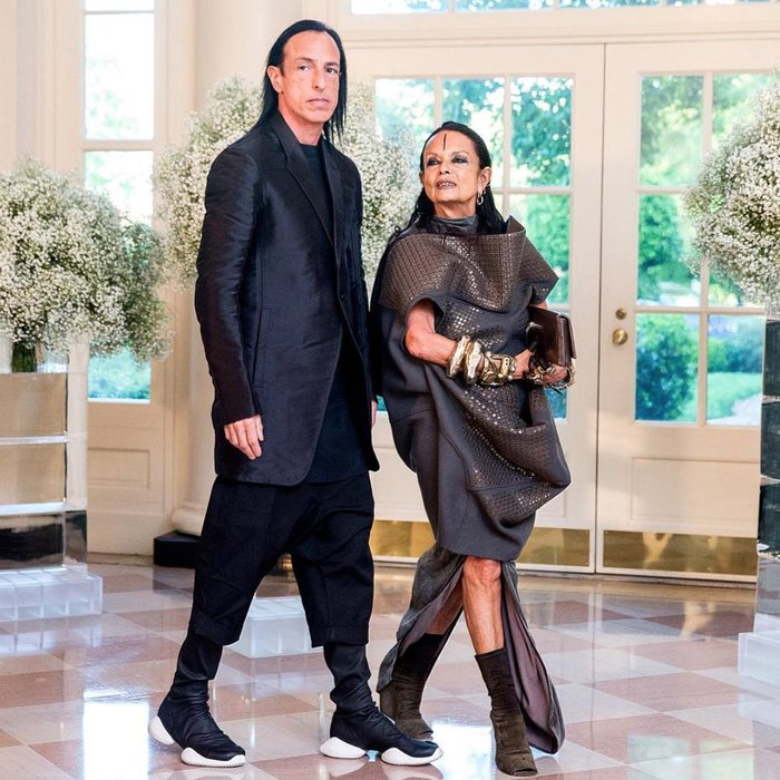 Rick Owens And Wife Attend White House Nordic State Dinner