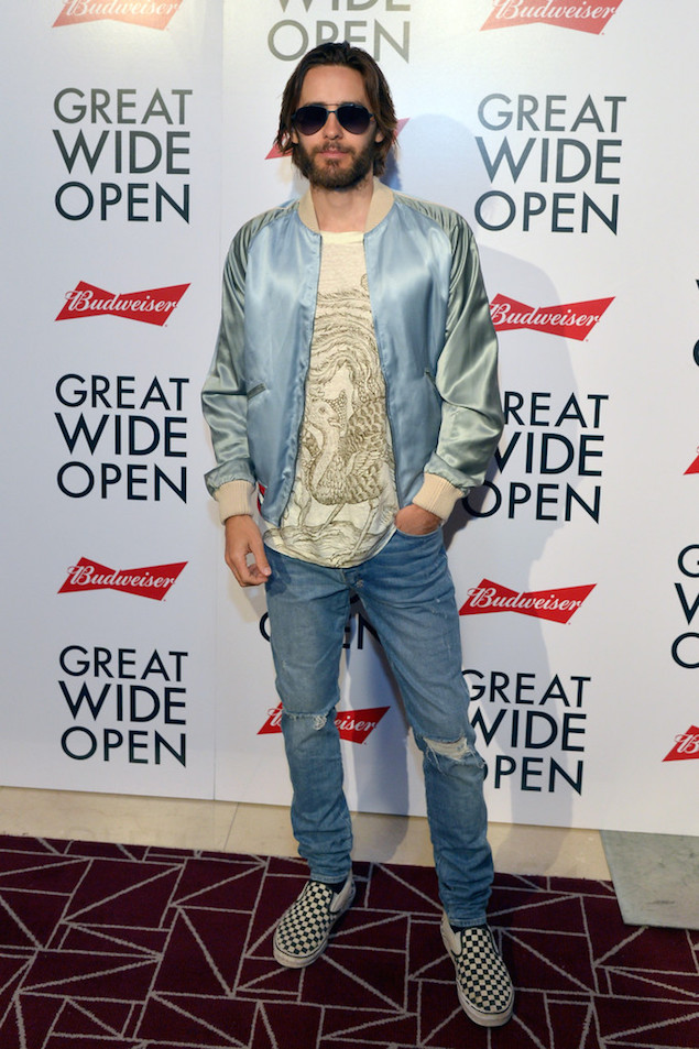 Spotted: Jared Leto In Gucci Souvenir Jacket, Ksubi Jeans And Vans