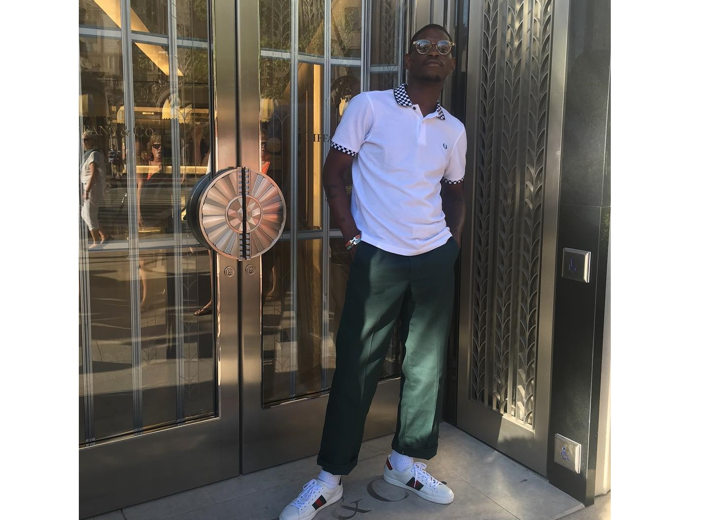 Spotted: ASAP Nast Wearing Fred Perry Polo, Gucci Sneakers & Hermes Bracelets
