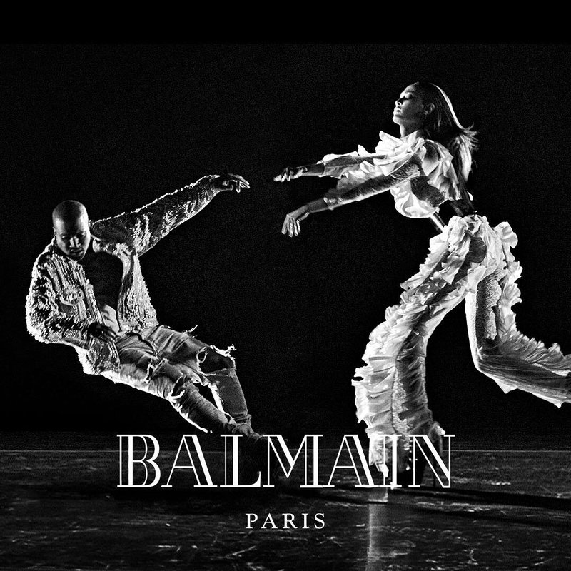 Spotted: Kanye Stars In Balmain's FW16 Campaign
