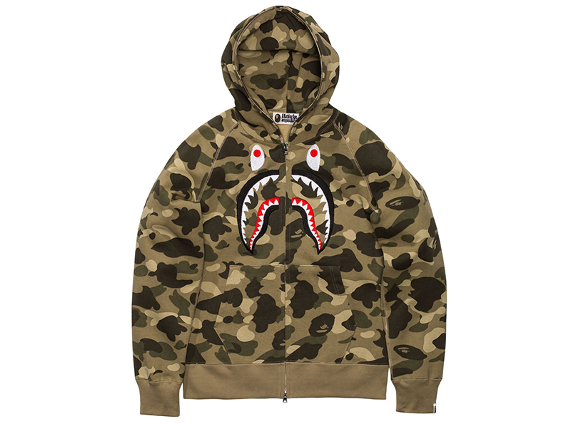 New In From BAPE: The Colour Camo Shark Hoodie