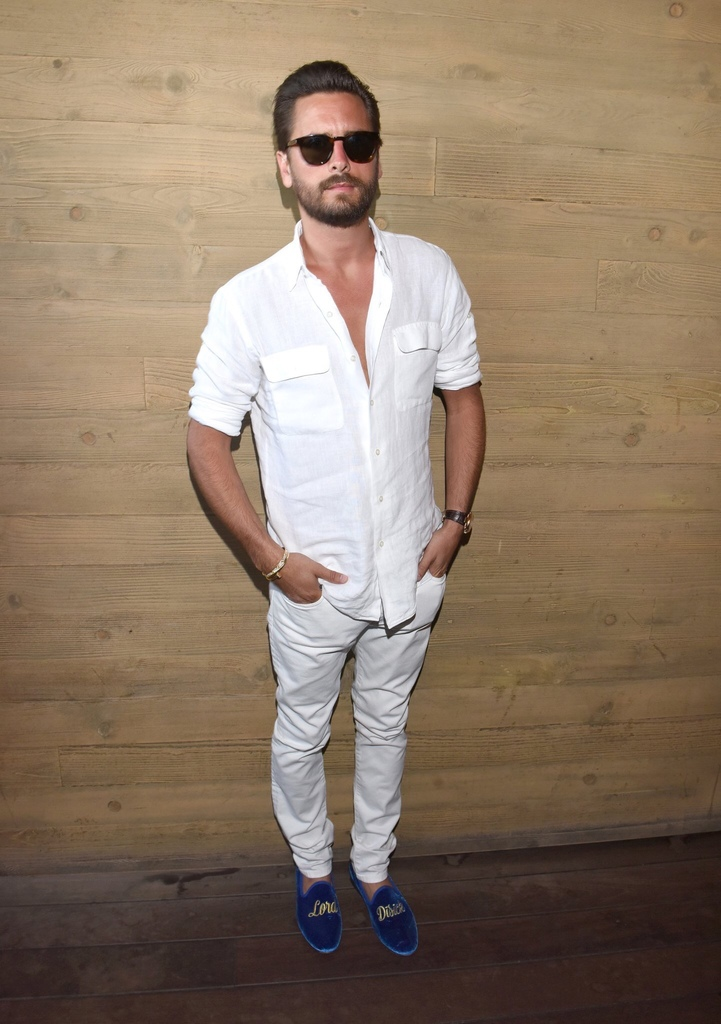 Spotted: Scott Disick in Saint Laurent & Del Toro
