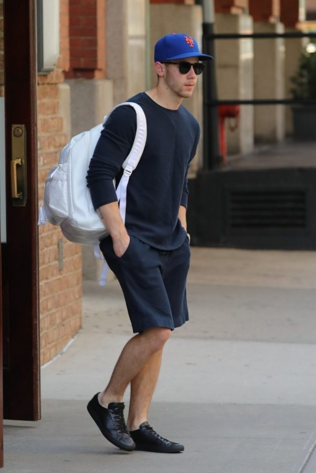 Spotted: Nick Jonas in Common Projects
