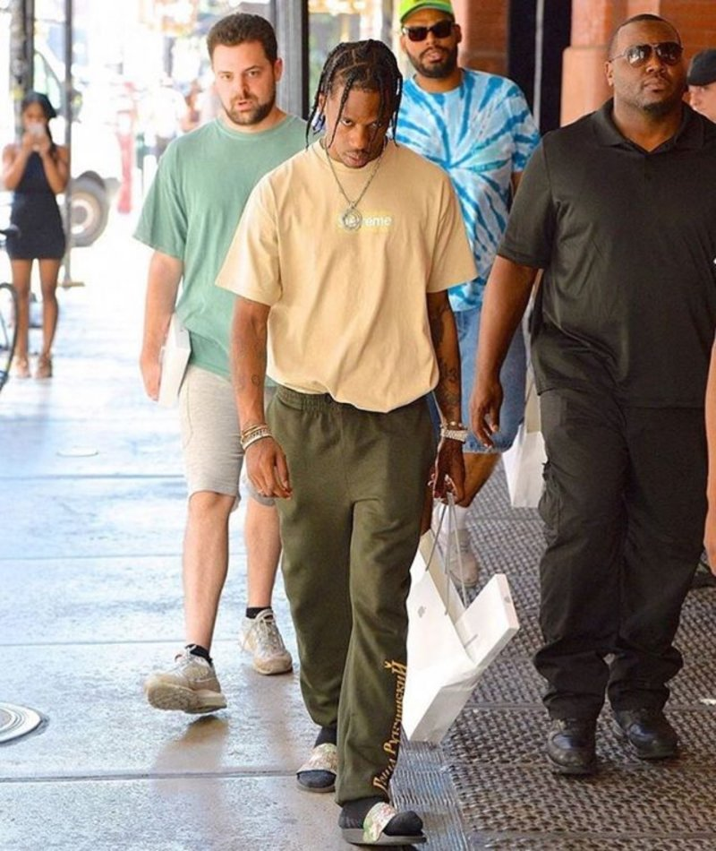 Spotted: Travis Scott In Gosha Rubchinskiy & Gucci
