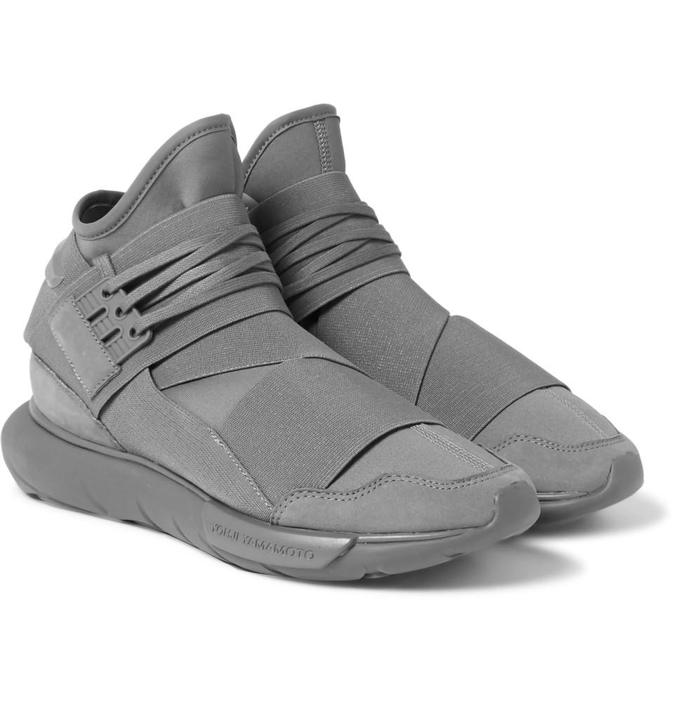 Y-3 Qasa High Sneaker In Grey Launches