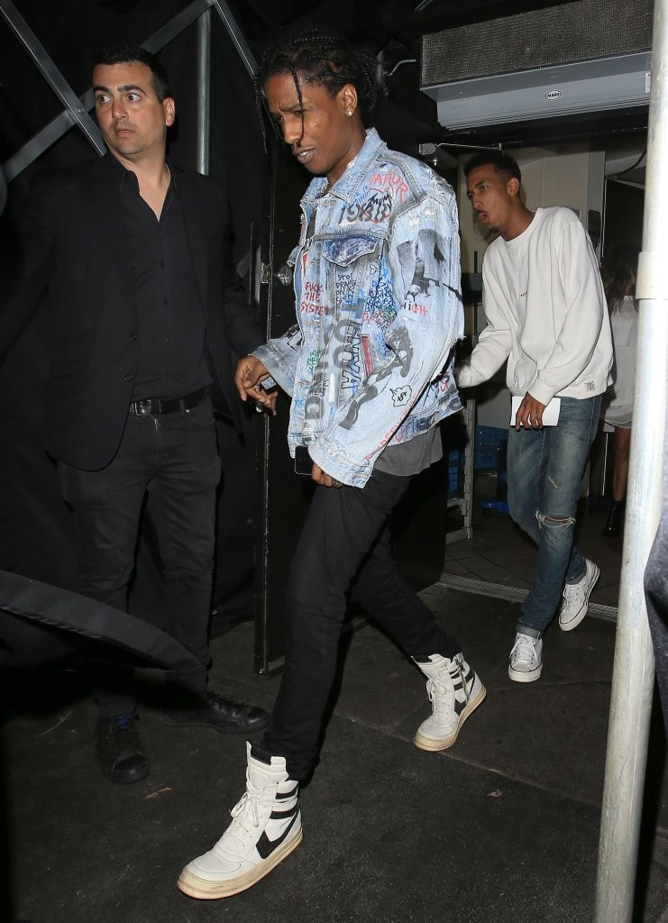 Spotted: ASAP Rocky In Vintage Rick Owens Sneakers