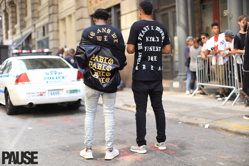 Street Style at Kanye West Pablo Pop-Up in New York City