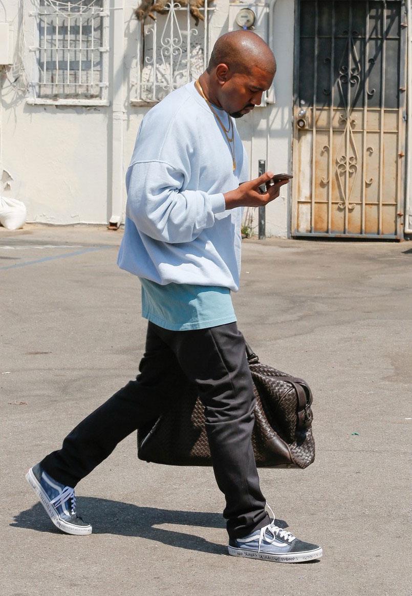 Spotted: Kanye West Rocks Bottega Veneta and Vans